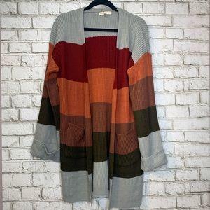 Color Block Cardigan New
